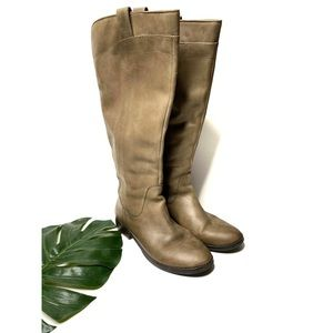 Franco Fortini Ontario Taupe Leather Riding Boots